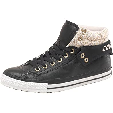 dcf790a148721a Converse CT All Star Padded Collar 2 Mid Leather Knit Black Brown - 7.5 UK