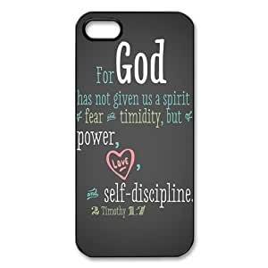 Cool Bible Quote iPhone 5 Case Hard Plastic iPhone 5 Case