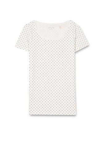 ESPRIT 017ee1k013, Camiseta para Mujer Multicolor (Off White)