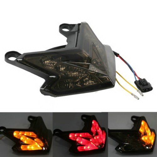 ABS Smoke LED Taillight Turn Signals for KAWASAKI NINJA Z800 ZX6R 636 2013-2015 (Kawasaki 636 Fender Eliminator compare prices)