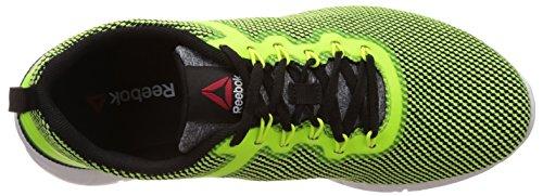Reebok Zquick Lite, Zapatillas de Running Para Hombre Amarillo / Blanco / Negro (Solar Yellow/Black/White)