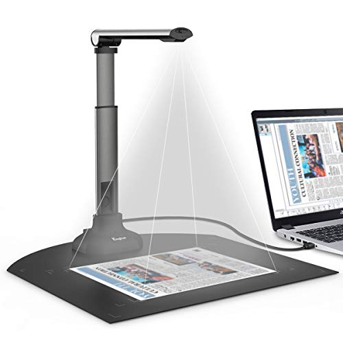 Kinghun KC6A07 Book & Document Camera, 8MP High Definition Portable Book Document Scanner, Capture Size A3/A4, Smart Multi-Language OCR, USB, Professional Software, SDK & Twain for Development