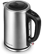 Aigostar Rob 30IGQ - Elektrischer Wasserkocher, 304 Food Grade Edelstahl, Schnurlos mit 2200 Watt, 1,7 Liter, trocknender Schutz beim Kochen, BPA frei.EINWEGVERPACKUNG.