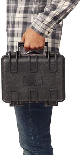 Amazon Basics Small Hard Camera Carrying Case - 12 x 11 x 6 Inches, Black