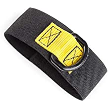 3M DBI-SALA Fall Protection For Tools, 1500081,Large Slim Pullaway Elastic Wristband Conform To Users Wrist Size, Tether Off Tools with Sewn On D-Ring, 10-Pack