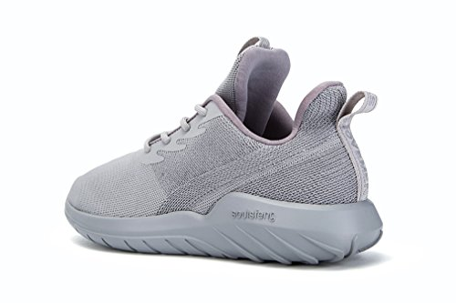 Outdoor SOULSFENG Running Sneakers Shoes Mesh Jogging UB Breathable Grey Sport Unisex Lightweight IxnZIfd