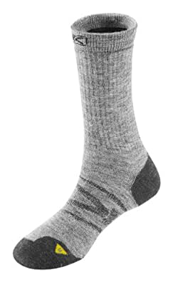 Keen Womens North Country Med. Crew Athletic Sock, Grey/Charcoal/Grey, Large