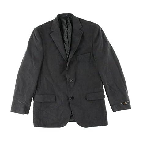Club Room Mens Faux Suede Notch Collar Two-Button Blazer Navy 42R - Faux Suede Blazer