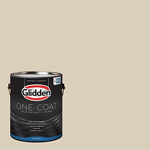 Glidden Interior Paint + Primer: Beige/Toasted Almond, One Coat, Semi-Gloss, 1-Gallon - Bedroom Paint