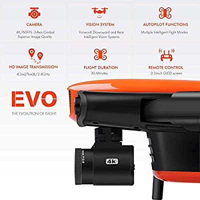 Autel Robotics EVO Foldable Drone Camera 60FPS 1080P 4K Camera Live Video with Wide-Angle Lens 30 Minutes Flying Time and Three-Way Obstacle Avoidance Mini Quadcopter by Autel