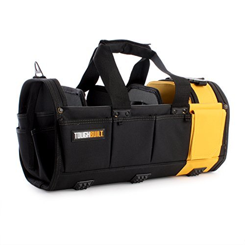 ToughBuilt - 18'' Modular Tote Tool Bag | 61 Pockets and Loops, Electrical/Maintenance Tool Carrier, Durable Padded Handle, 3 Removable Pocket Dividers, Storage Organizer/Tool Box (TB-81-18)