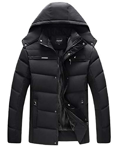 Down Jackets AS6 Winter Thicken Zipper Velvet Outwear Hooded Warm Mens RkBaoye O8zq4w