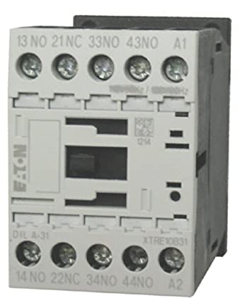 Eaton / Moeller DILA-31 4 pole control relay with a 220/240 volt AC ...