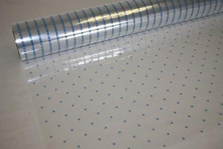 10m X 80cm Roll Baby Blue Dot Cellophane Wrap Florist Quality