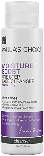 Paula's Choice MOISTURE BOOST Cream Cleanser with Aloe, Chamomile & Hyaluronic Acid, Face Wash for Dry Skin, 16 Ounce