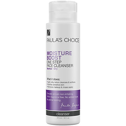Paula's Choice Moisture Boost One Step Face Cleanser, 16 oz. (1 Bottle) Hydrating Cleanser for Normal to Dry Sensitive Skin of the Face and Neck