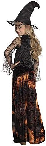Boland 78136 - Disfraz Infantil de Dazzling Witch, Naranja/Negro, 10-12 años (152)