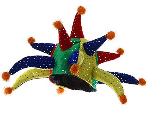 Multi Color Sequined Horned Jester Party Hat - Party Hats Entertainment