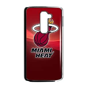 Miami Heat NBA Logo LG G2 Cell Phone Case Black Exquisite gift (SA_452161)