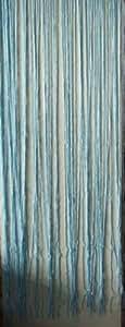 Cortina de hilos 200x 90cm turquesa