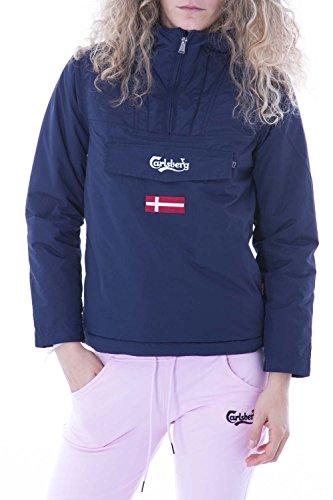 CARLSBERG - Giacchetto con cappuccio skidoo donna XL Blu