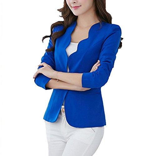 Jacket Manteau Automne pour Sfit Veste Tops Casual Slim Bleu Longues Manches Printemps Femme Blazer fww5H8x