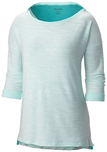 3/4 Sleeve Athletic Sport Shirt (Columbia Women's Coastal Escape 3/4 Sleeve Shirt, Ocean Water Heather,)