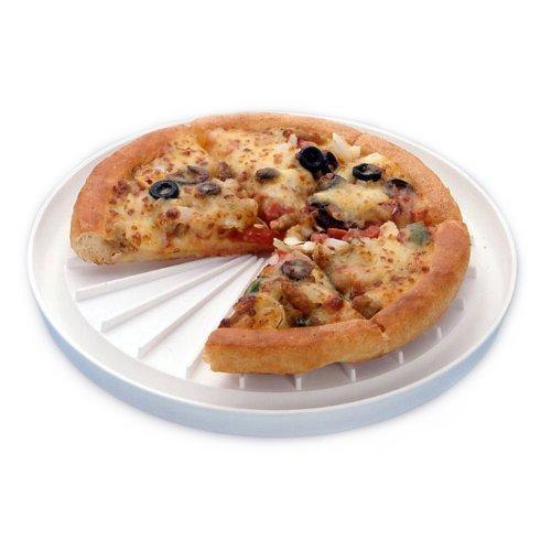 Zizzi - 26cm microondas Pizza Bandeja Blanco Rugoso ...
