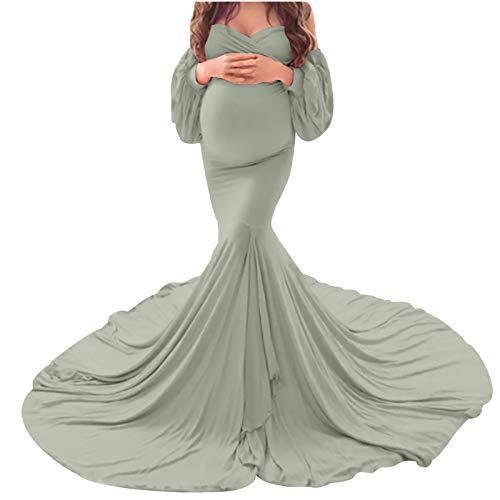 LUCKTOP 여성 드레스 출산 사진 PREGNANTS 섹시한 소품 오프 어깨 긴 출산 드레스 PHOTOSHOOT