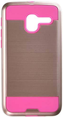 Asmyna Cell Phone Case for Alcatel Stellar - Rose Gold/hot Pink