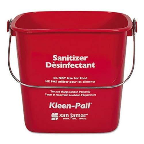 - San Jamar Kleen-Pail, Plastic, Red, 12/Carton (SJMKP97RD)