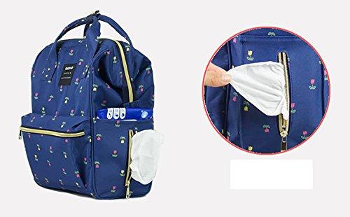 Producido Ser De Embarazadas Red Multi Hombro Color beige Paquete Bolsa Azul Impermeable Mummy Para Mujeres funcional Moda Ug74qPw