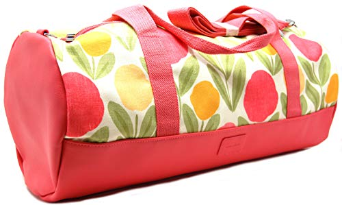 Laura Pink 'Serena' Ashley Floral Holdall Tote Canvas Gym in Bag r8rx7q6E