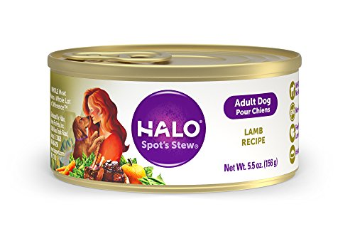 Halo Natural Wet Dog Food, Lamb Recipe, 5.5-Ounce Can (Pack of 12)