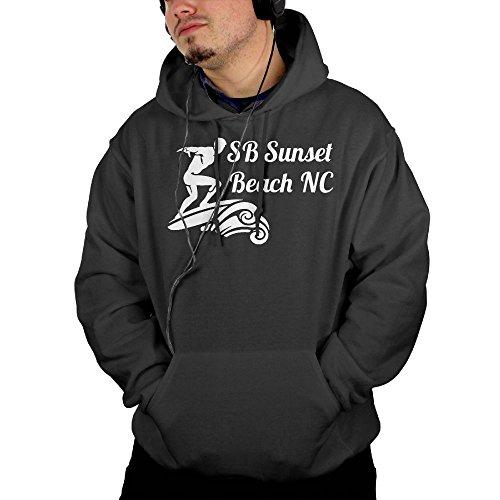 Mens SB Sunset Beach NC Pullover Hoodie Sweatshirts With Front Pocket (Nc Halloween Festivals)