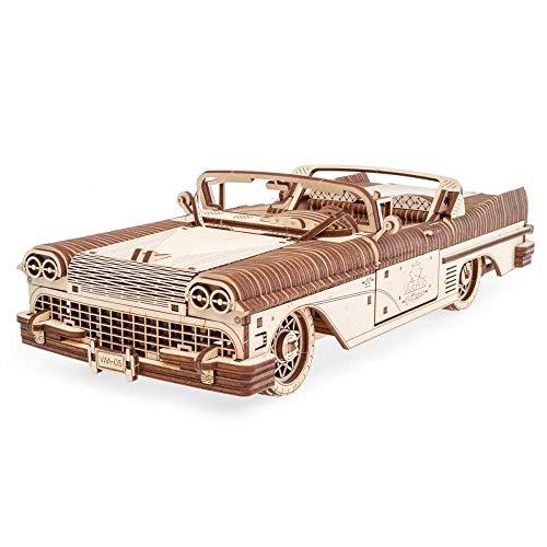 UGEARS !!!PRE-Order!!! Mechanical Wooden 3D Puzzle Model Dream Cabriolet VM-05]()