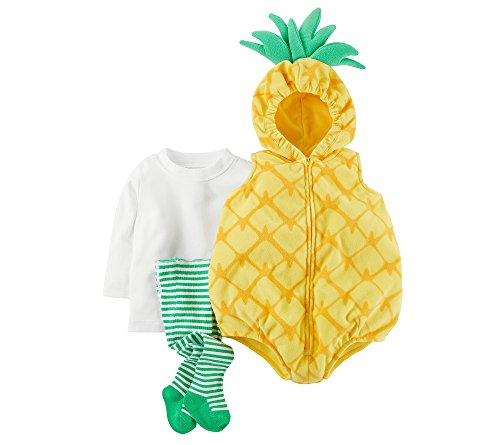 Carter's Baby Girls' 3-Pc. Little Pineapple Costume 18 (1 Year Old Baby Girl Halloween Costumes)