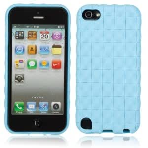 Grid Pattern Silica Gel Case for iPod Touch 5 Sky Blue