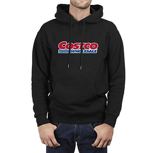 ZTUO Mens Hoodies Pullover Hooded Crewneck Sweatshirt Novelty Hoodie Black Hoody with Drawstring Big Pockets