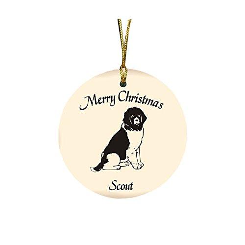GiftsForYouNow Dog Breed Personalized Christmas Ornament, Newfoundland