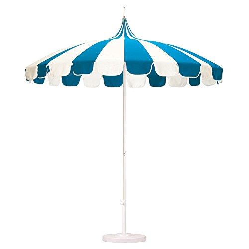 California Umbrella Pagoda 8.5 Ft. Striped Sunbrella Patio Umbrella