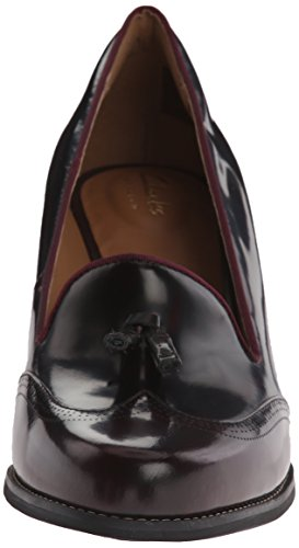 Bomba Clarks Tarah vestido de Rosie Burgundy Leather