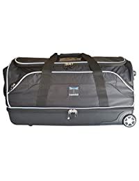 "Travolution 28"" Wheeled Drop-Bottom Duffel with Garment Rack with Grey Trim"