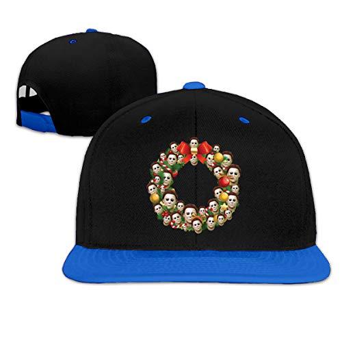 Michael Myers Halloween Multiface Christmas Wreath Summer Cool Heat Shield Unisex Hip Hop Baseball Cap -
