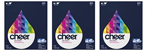 Concentrated Cheer Ultra Fresh Clean Scent Powder Laundry Detergent, 80 Loads, 112 oz (Pack of 3)