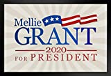 Poster Foundry Mellie Grant for President 2020 TV Show Campaign Black Wood Eco Framed Print 9x13