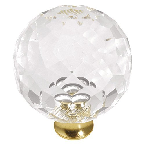 Hickory Hardware P35-CA3 1-3/8-Inch Crystal Palace Knob, Crysacrylic Polished Brass by Hickory Hardware - Ca3 Crystal