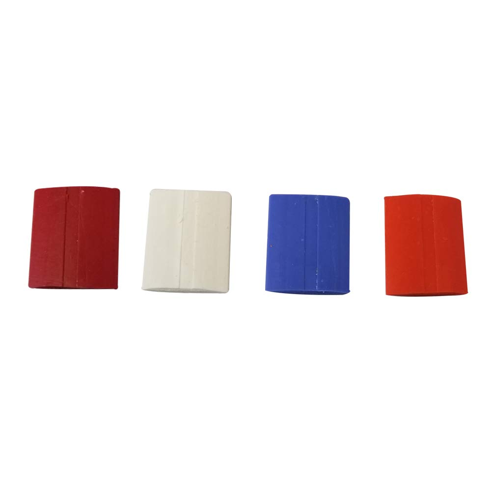 Multicolor Tailors Chalk | Square Shaped Professional Sewing Chalks for Tailoring, Sewing & Fabric Marking | 6 chalks Each of White, Orange, RED and Blue Colors (24 Pcs) by Sewtco