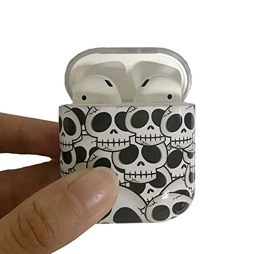 (ICI-Rencontrer Super Creative Skull Pattern Airpods Case Portable AirPods Accessories Hard PC Plastic Anti-Scratch Shockproof Protective Case Skull)