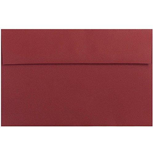 - JAM PAPER A10 Premium Invitation Envelopes - 6 x 9 1/2 - Dark Red - 50/Pack